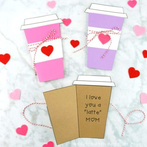 Mother S Day Coffee Card Template Mothers Day Flower Pot Mothers Day Cards Mothers Day Crafts
