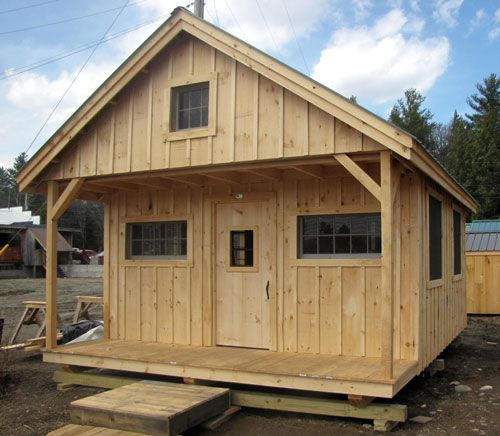 16x20 vermont cottage c available as plans kits 2 for Camp cabin kits