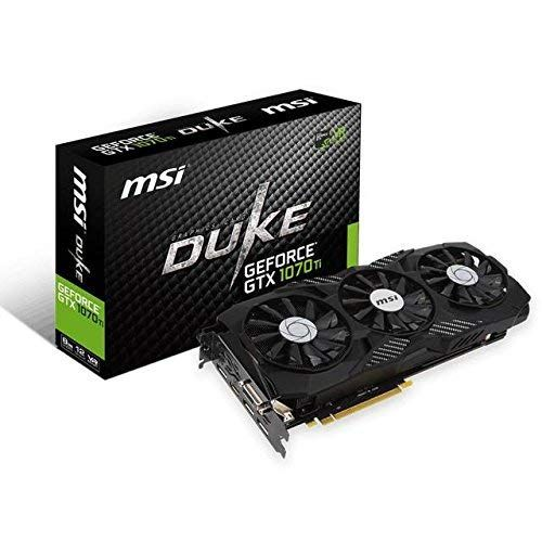 Msi Gaming Geforce Gtx 1070 Ti 8gb Gdrr5 256 Bit Hdcp Support Directx 12 Sli Trifrozr Fan Vr Ready Graphics Card Gtx 1070 Ti Duke 8g Review With Images Graphic Card Msi Nvidia