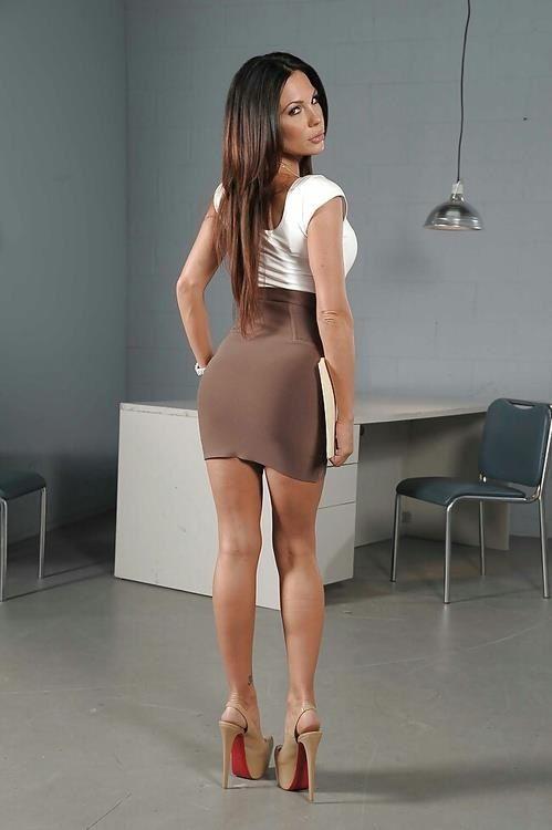 Tight short skirt cunt