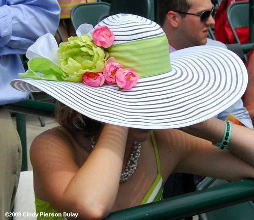 Simple hat but great idea for adding wide ribbons and flowers