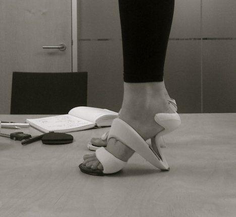 Sole-less high heels.