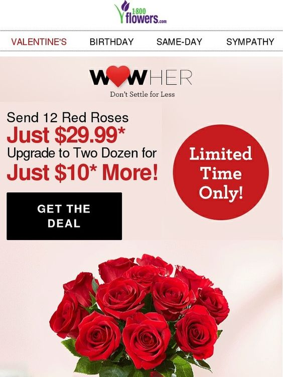 Final Call! Just $29.99 for One Dozen Red Roses - 1-800-flowers.com