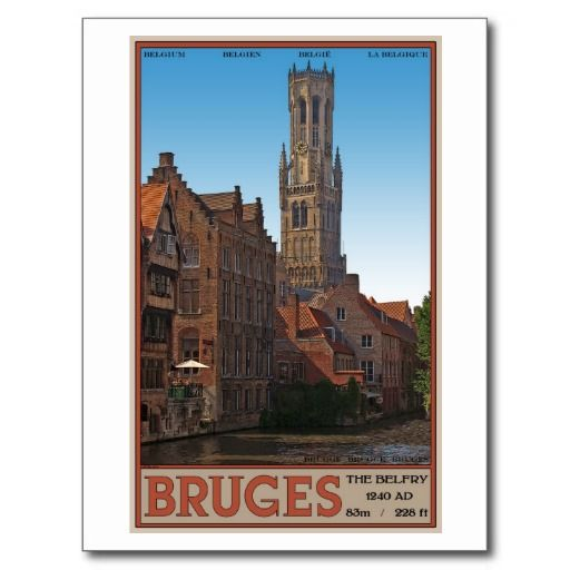 View of the Brugge Belfry on a sunny summer afternoon - Brugge, Belgium