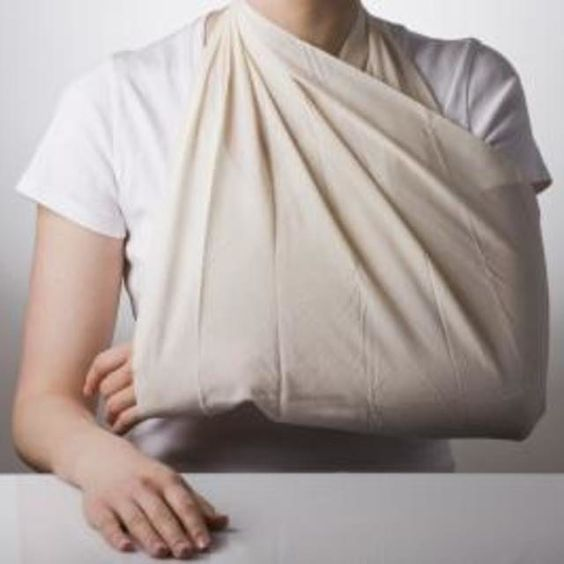 A homemade sling can be used as temporary means of immobilizing an injured arm.