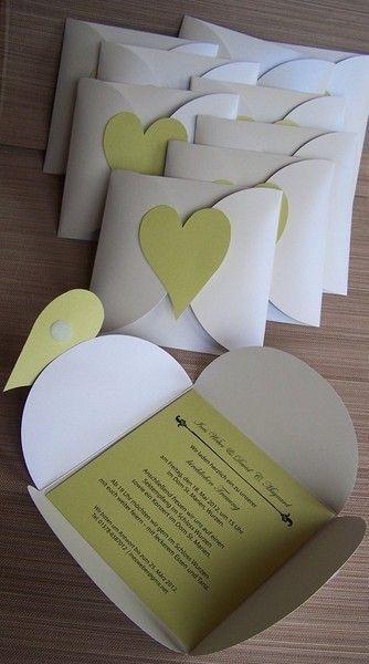 Einladungskarte Herz - Hochzeitskarten von Kartenmanufaktur-Arndt - Hochzeitskarten - ... - http://goo.gl/S6yDVu