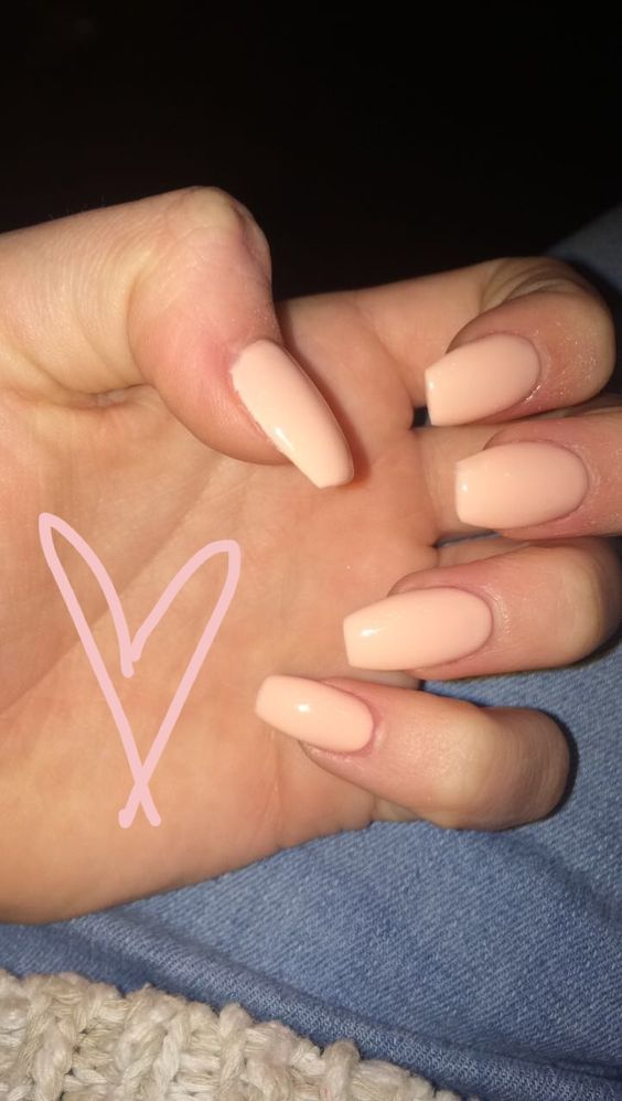 73 Peach Coral Coffin Almond Stiletto Acrylic Nail Design For Short And Long Nails Awimina Blog Peach Acrylic Nails Short Acrylic Nails Designs Short Coffin Nails Designs