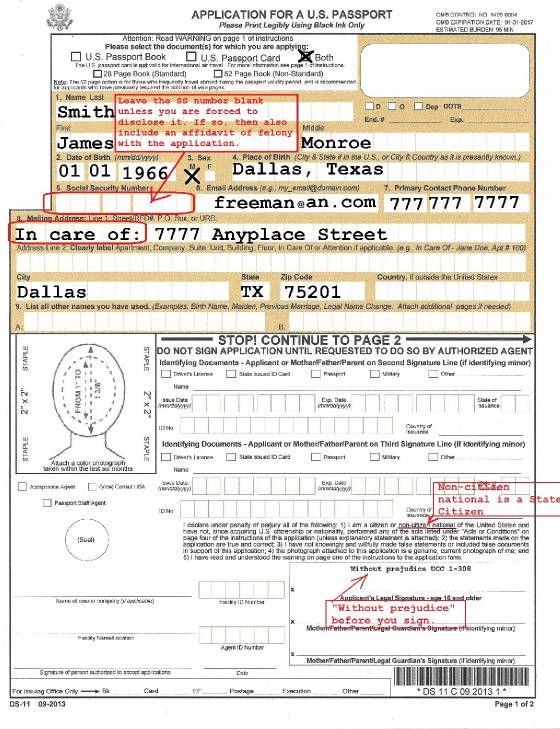 How To Complete A Passport Application   MusiciansFreedomCom