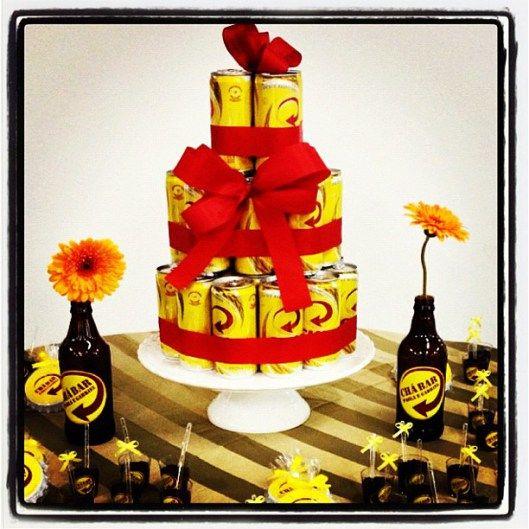 """Esse """"bolo"""" de cerveja combina muito com minha proposta de Open House!"""