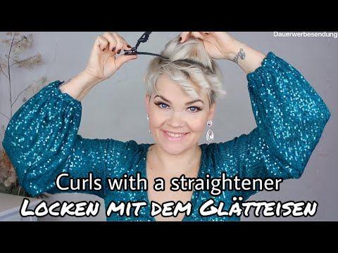 Kurze Haare Locken Und Stylen Mit Dem Glatteisen Youtube Kurze Haare Locken Glatteisen Frisuren Kurze Haare Kurze Haare Locken Glatteisen