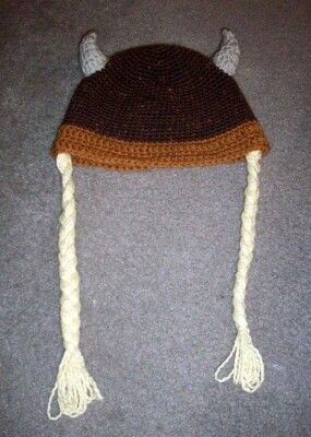 Free Crochet Patterns For Viking Hat : Viking Beanie Crochet FREE Pattern Crochet Hats ...