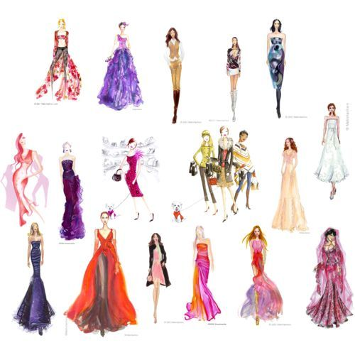 dresses drawings  Prom Dress Sketches  Prom Dresses Designs ...