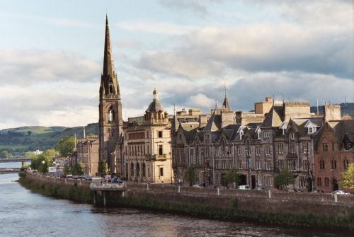 Perth, Scotland.  One of the most wonderful places on Earth.  View from the river Tay.