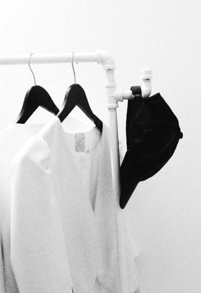 Via Kenziepoo | White Clothing Rack | Bedroom