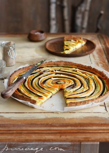 Artisan Pie with Vegetables and Fresh Cheese