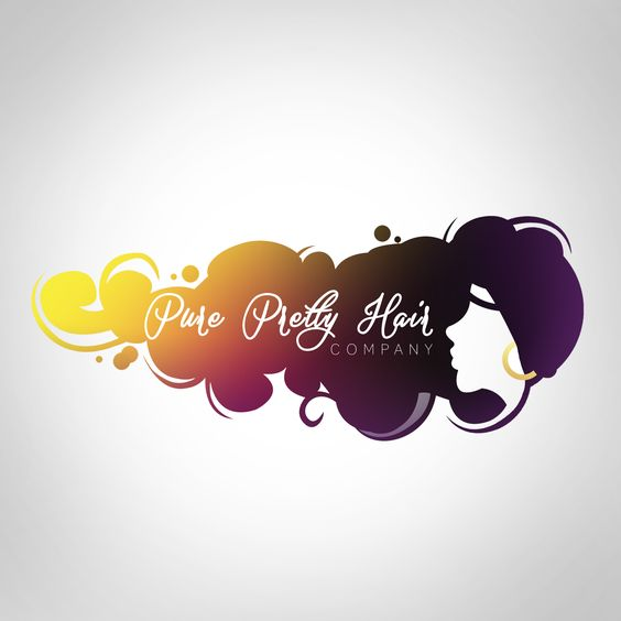 logo design for pure pretty hair company logo design