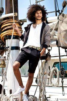 natural hair men tumblr | Yassine Rahal Long flowing afro