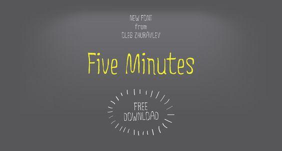 Five Minutes / Free Font by Oleg Zhuravlev, via Behance #fonts