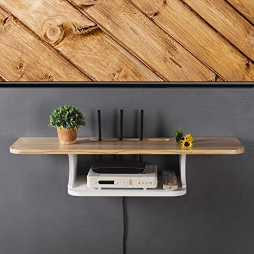 Solid Wood Wall Mounted Tv Shelf Wall Shelf Router Set Top Box Tv Remote Control Dvd Player Projector Storage Shelf Tv Sta Wall Shelves Wall Mounted Tv Shelves