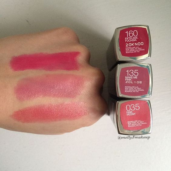 Colors Maybelline And Pink On Pinterest