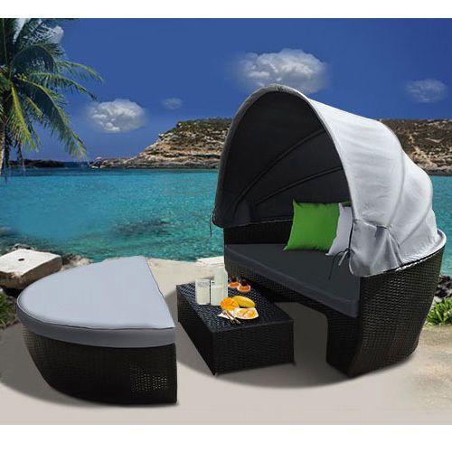 Sun Lounge Couch Round Day Bed Outdoor Garden Wicker Rattan Furniture Set