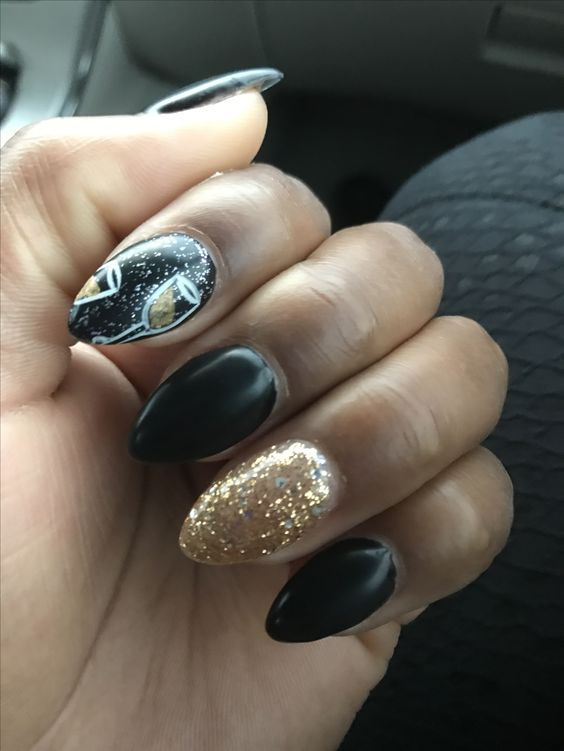 New Years nails by Selena part 1