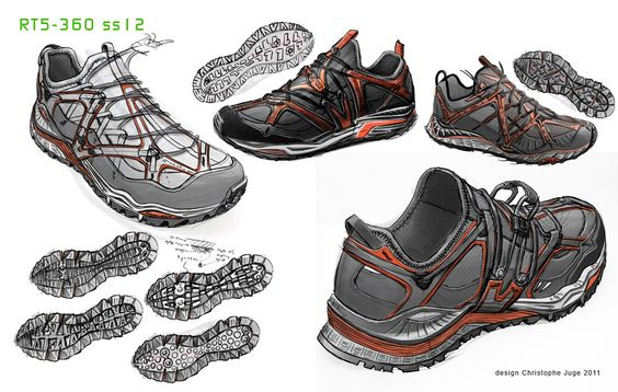 I was challenged here to design a trail shoe that would be among the reference shoes for trail runners.Therefore, it was not only a simple restyling, it was necessary to innovate. So my first step was to define what were the 3 most important caracteris…