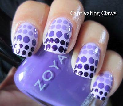 purple dot mani!