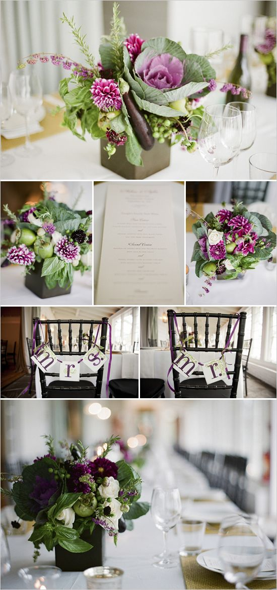 Cabbages centerpieces and flower arrangements on pinterest