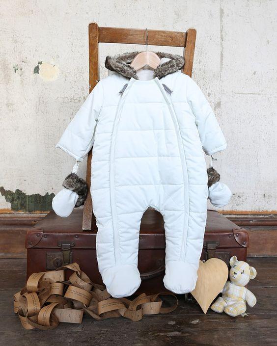 White Quilt Baby Pramsuit - Christmas