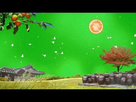 House At Natural Garden Landscape Green Screen Morning Landscape Chromakey Vfx Foot Green Screen Video Backgrounds Photo Frame Design Free Video Background