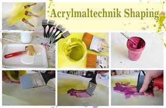 Acrylmalerei mit Shaper - Atelier - Malschule Mesch Osnabrück