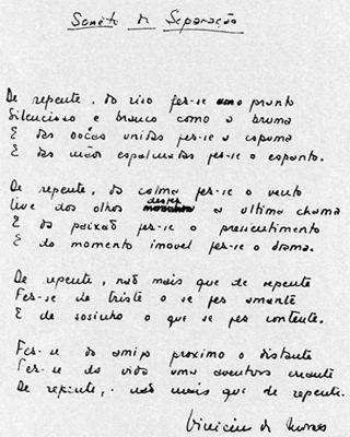 Soneto da Separação - Vinicius de Moraes