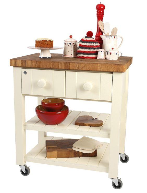 Mesa mesa mesas auxiliar de cocina en madera maciza laqueada ...