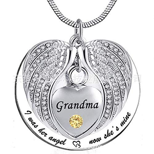Unisex Angel Wing Memorial Keepsake Ashes Urn Pendant Necklace Pet