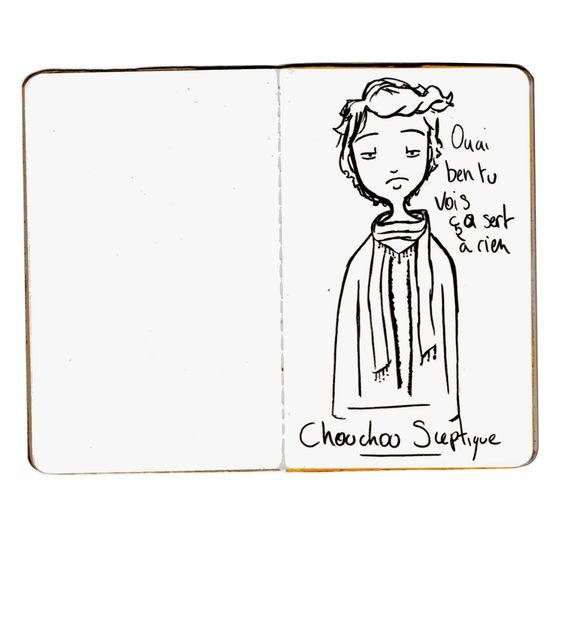 Le petit carnet rose/ personnages et expressions: Drawing