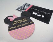 DIY Classic Minnie Mouse Straw Flags Favors by StudioDBoutique. $6.00, via Etsy.