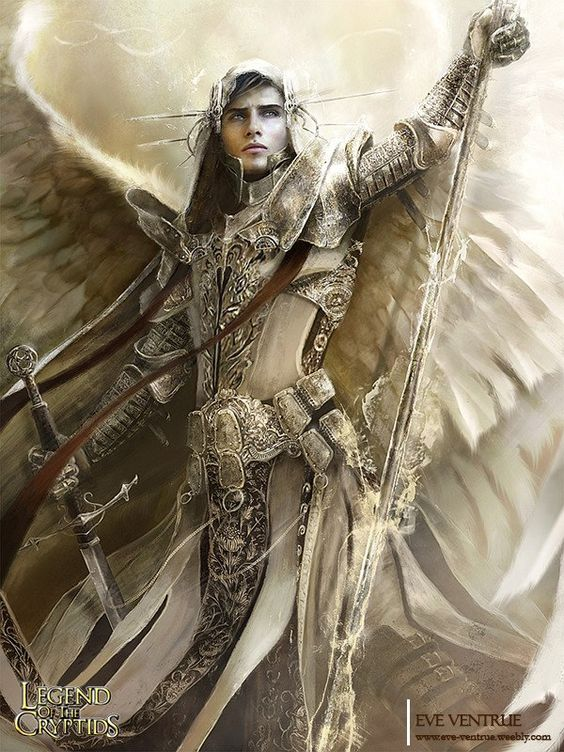 Now that's my kind of angel warrior. Forget the robes and bring on the ass-kicking for goodness.