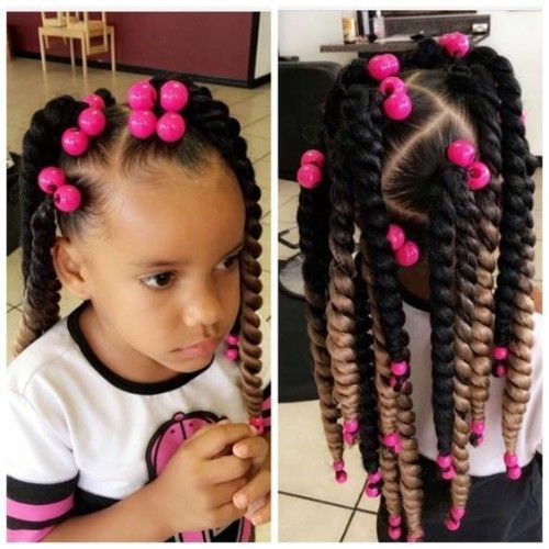 Black Kids Hairstyles With Braids Beads And Accessories Black Kids Hairstyles Kids Crochet Hairstyles Kids Hairstyles