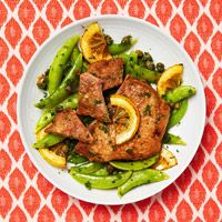 Pork (or chicken) Scaloppine With Sugar Snap Peas