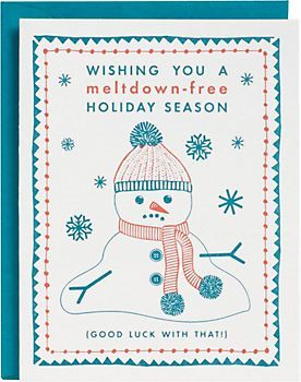Melt Down Snowman Holiday Card ($5):