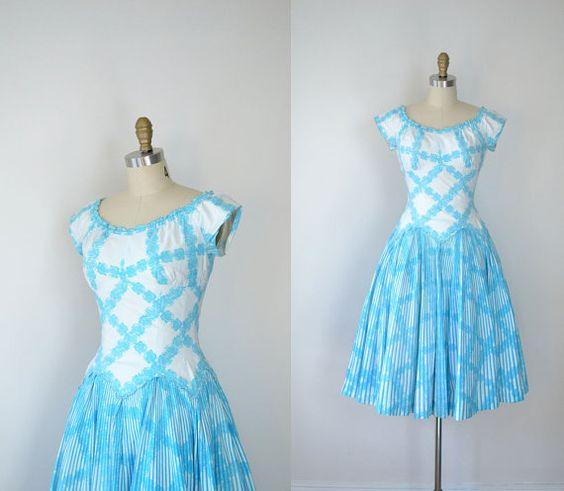 1950s Alix Of Miami Cotton Dress / 50s Rose by FemaleHysteria
