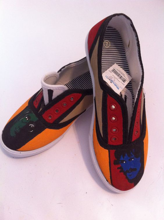 Personalized Beatles Shoes on Etsy, $15.00