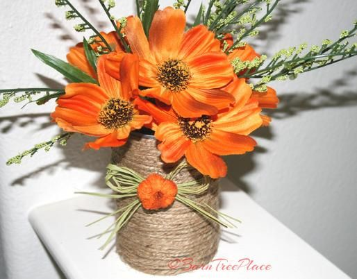 DIY Recycled Can Vase: Perfect accent piece to add to your table scape or use for Wedding, Showers, Holiday, Any Occasion.