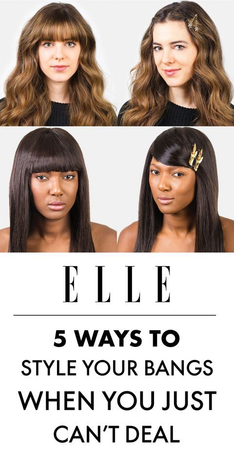 5 Ways To Style Bangs On Can T Deal Days How To Style Bangs Short Hair With Bangs Hide Bangs