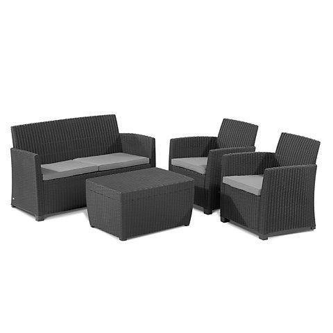 Corona Plastic 4 Seater Coffee Set | Coffee table with ...