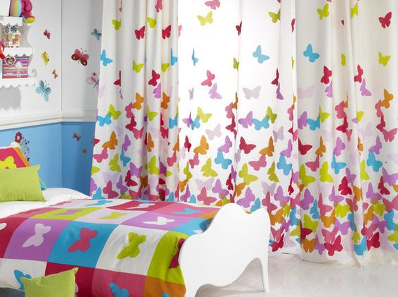curtain for kids room (girl) PAPILLON RIOMA   Violet's room ...