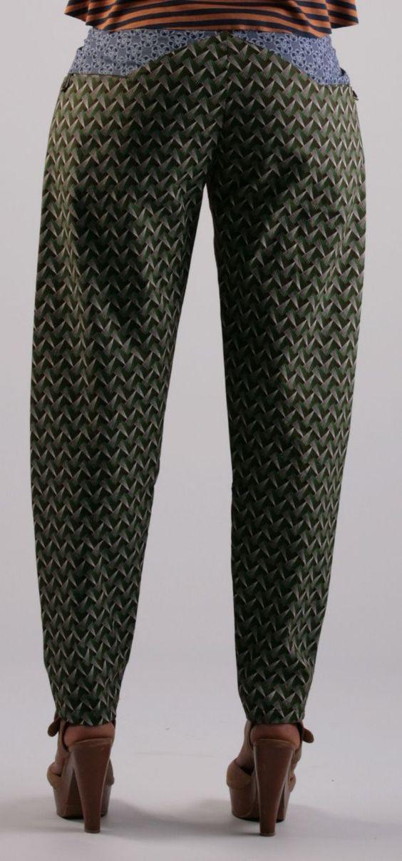 Shweshwe pants made by Faeeza Khan