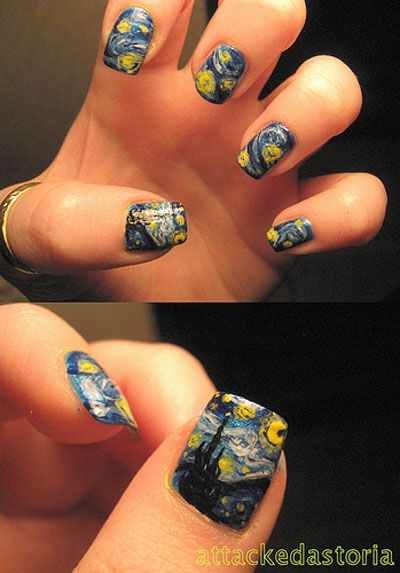 Amazing! The Starry Night inspired #nails