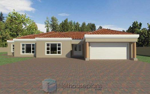 5 Bedroom Single Storey House Plan For Sale 363sqm Nethouseplansnethouseplans House Plans South Africa Tuscan House Plans Beautiful House Plans